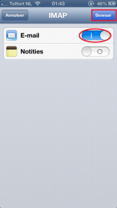 ios mail imap aan iphone