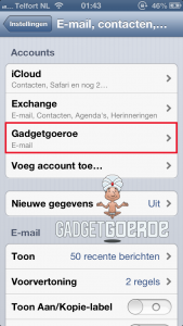 ios mail ingesteld iphone