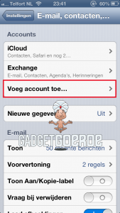 ios mail toevoegen iphone