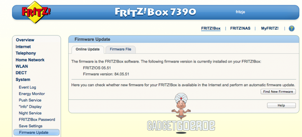 fritzbox firmware updaten