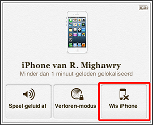 zoek mijn iphone wis iphone direct