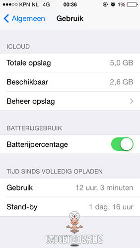 iphone batterijduur lang vol