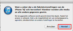 iphone batterij snel leeg herstellen in itunes